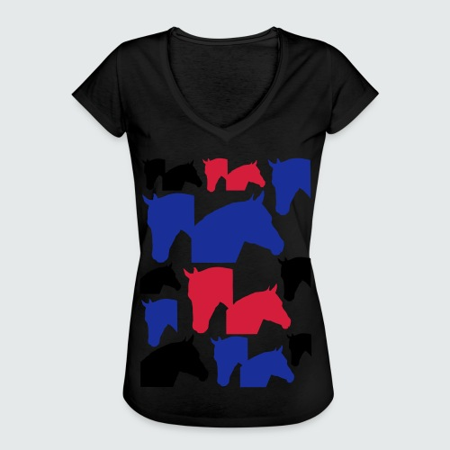 Pferdekopf-Collage-2 - Frauen Vintage T-Shirt