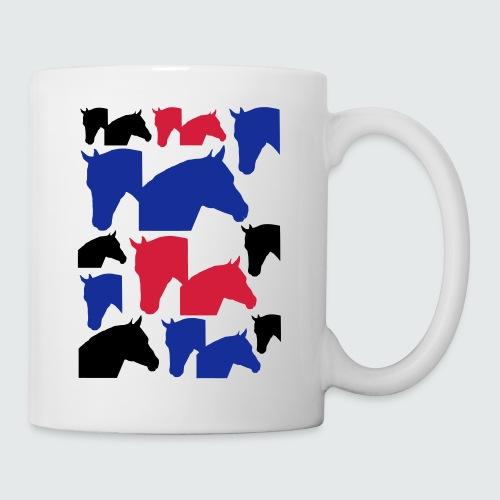 Pferdekopf-Collage-2 - Tasse