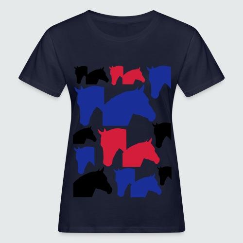 Pferdekopf-Collage-2 - Frauen Bio-T-Shirt