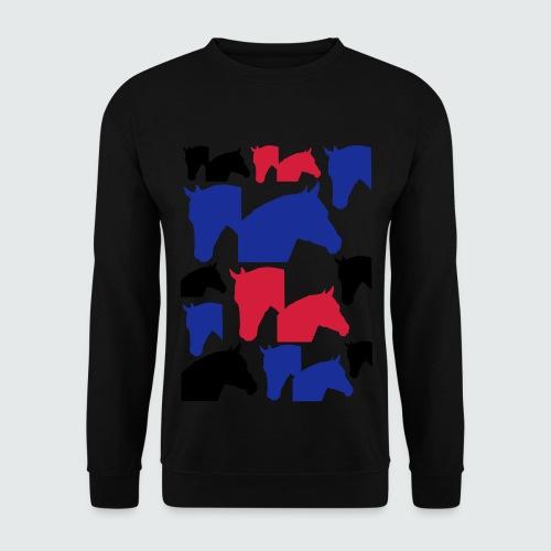 Pferdekopf-Collage-2 - Männer Pullover
