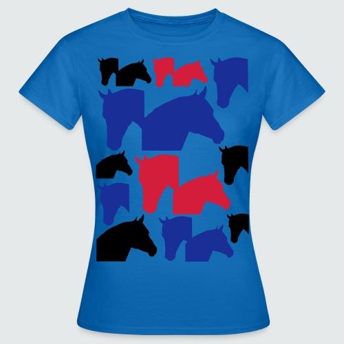 Pferdekopf-Collage-2 - Frauen T-Shirt