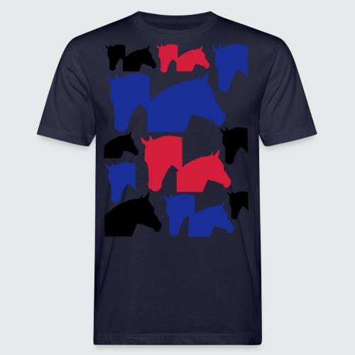 Pferdekopf-Collage-2 - Männer Bio-T-Shirt
