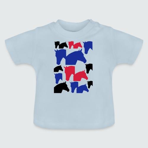 Pferdekopf-Collage-2 - Baby T-Shirt