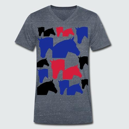 Pferdekopf-Collage-2 - Männer Bio-T-Shirt mit V-Ausschnitt von Stanley & Stella