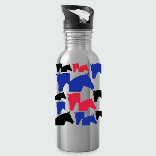 Pferdekopf-Collage-2 - Trinkflasche