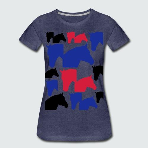 Pferdekopf-Collage-2 - Frauen Premium T-Shirt
