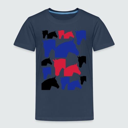 Pferdekopf-Collage-2 - Kinder Premium T-Shirt