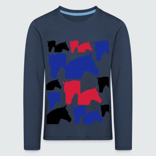 Pferdekopf-Collage-2 - Kinder Premium Langarmshirt
