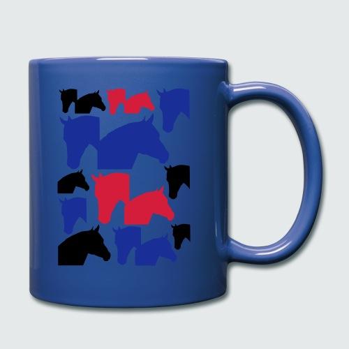 Pferdekopf-Collage-2 - Tasse einfarbig