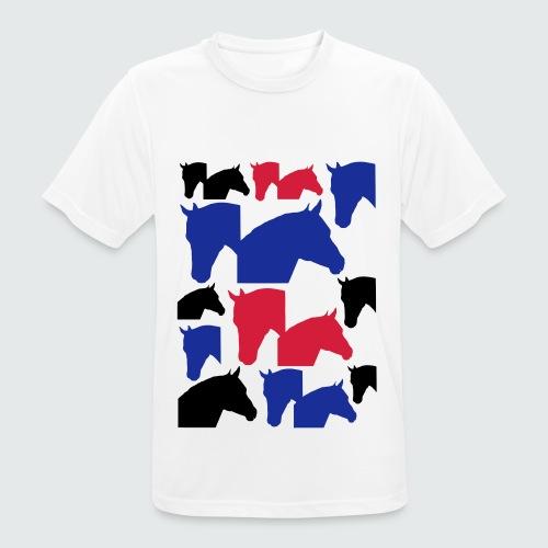 Pferdekopf-Collage-2 - Männer T-Shirt atmungsaktiv