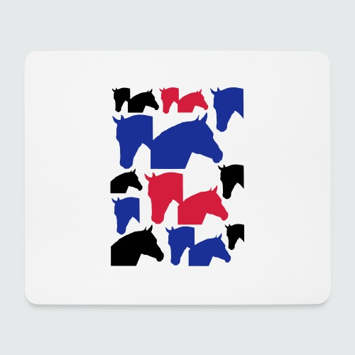 Pferdekopf-Collage-2 - Mousepad (Querformat)