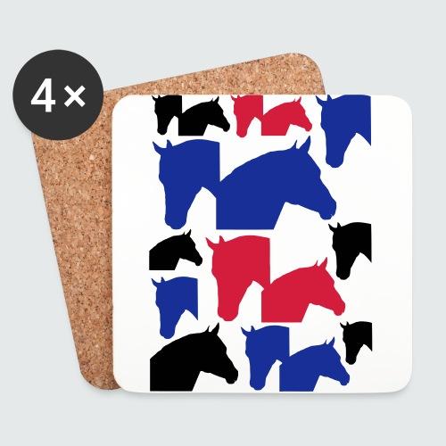 Pferdekopf-Collage-2 - Untersetzer (4er-Set)
