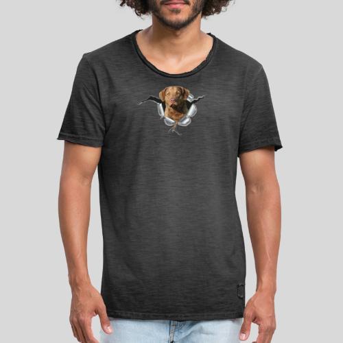 Chessie im Metall-Loch - Männer Vintage T-Shirt