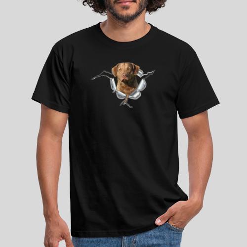 Chessie im Metall-Loch - Männer T-Shirt
