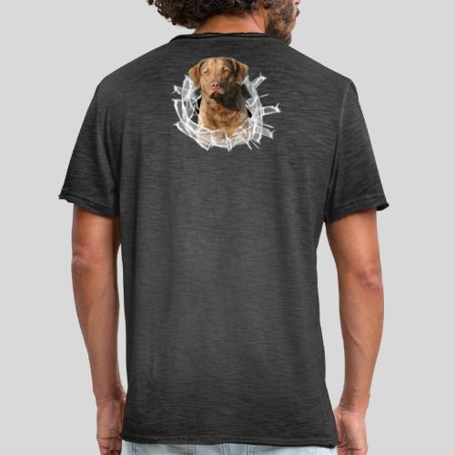 Chessie im Glasloch - Männer Vintage T-Shirt