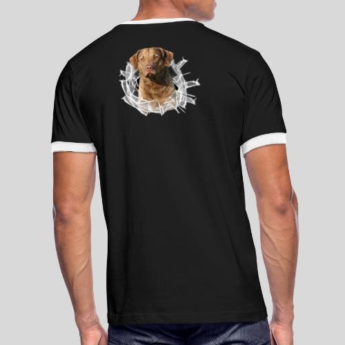 Chessie im Glasloch - Männer Kontrast-T-Shirt