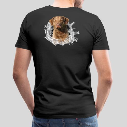 Chessie im Glasloch - Männer Premium T-Shirt