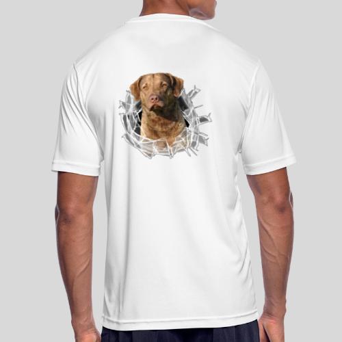 Chessie im Glasloch - Männer T-Shirt atmungsaktiv