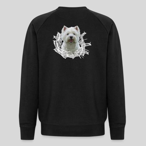 West Highland Terrier im Glasloch - Männer Bio-Sweatshirt von Stanley & Stella