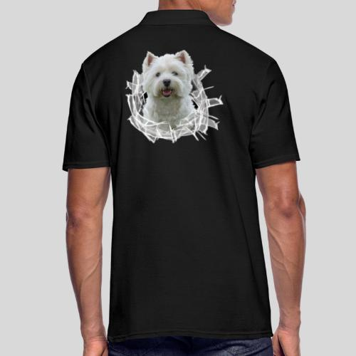 West Highland Terrier im Glasloch - Männer Poloshirt