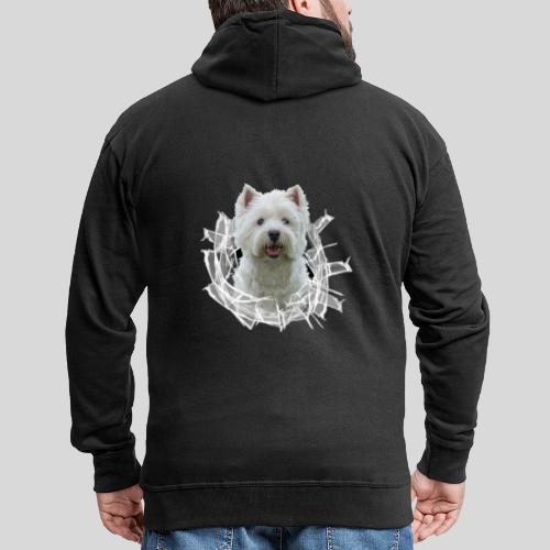 West Highland Terrier im Glasloch - Männer Premium Kapuzenjacke