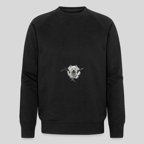 West Highland Terrier im Metall-Loch - Männer Bio-Sweatshirt von Stanley & Stella