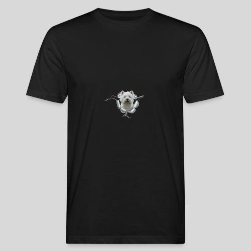 West Highland Terrier im Metall-Loch - Männer Bio-T-Shirt