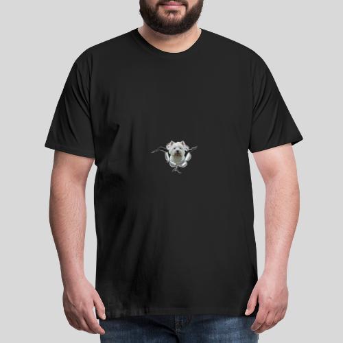 West Highland Terrier im Metall-Loch - Männer Premium T-Shirt