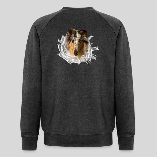 Collie (3) im Glasloch - Männer Bio-Sweatshirt von Stanley & Stella