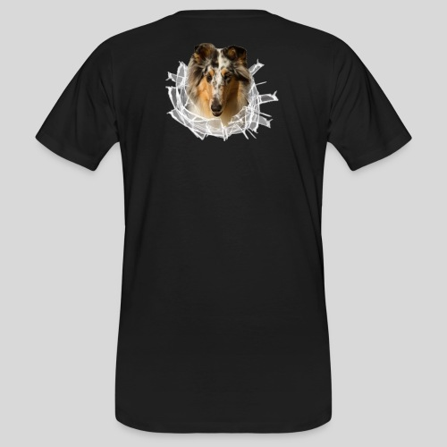 Collie (3) im Glasloch - Männer Bio-T-Shirt