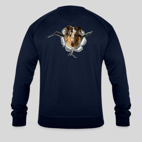 Collie (3) im Metall-Loch - Männer Bio-Sweatshirt von Stanley & Stella