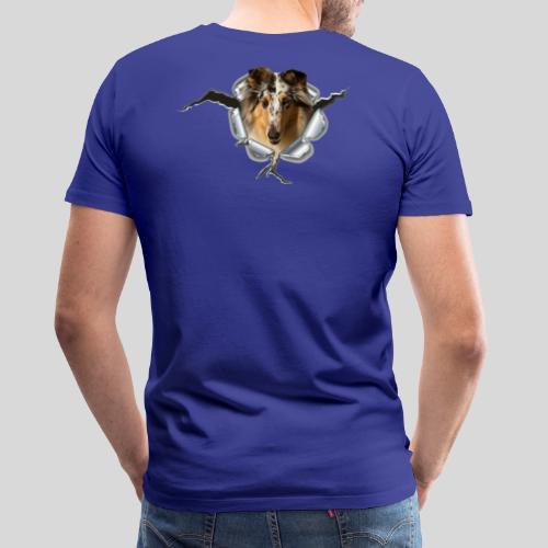 Collie (3) im Metall-Loch - Männer Premium T-Shirt