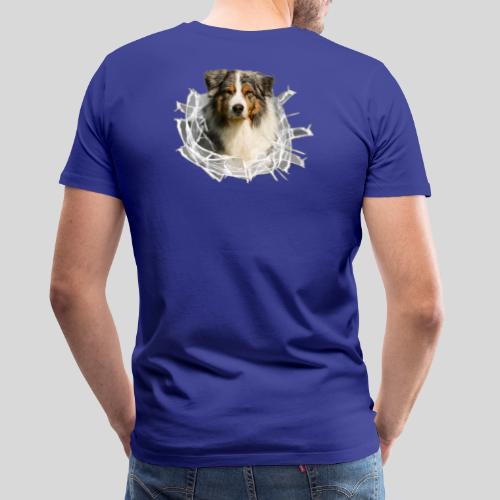 Australian Shepherd im Glasloch - Männer Premium T-Shirt