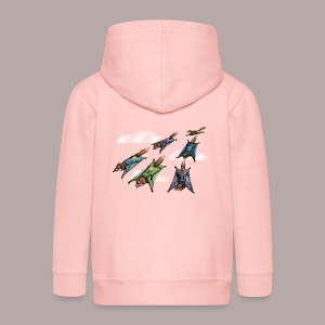 Flying Fox Formation Squad Team - Kids' Premium Zip Hoodie
