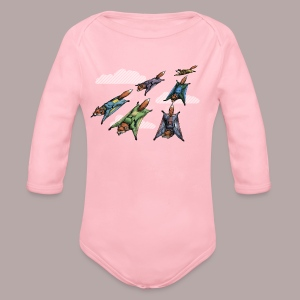 Flying Fox Formation Squad Team - Organic Longsleeve Baby Bodysuit