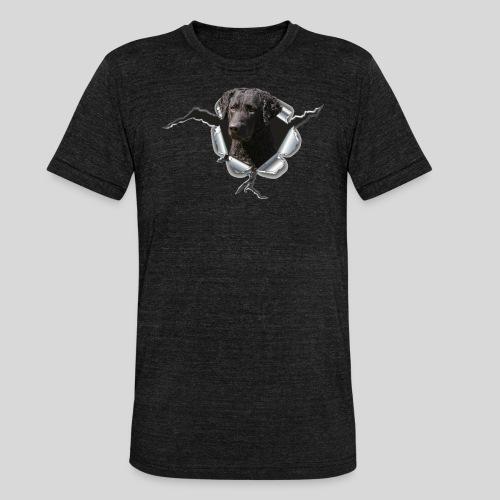 Curly Coated Black im Metall-Loch - Unisex Tri-Blend T-Shirt von Bella + Canvas