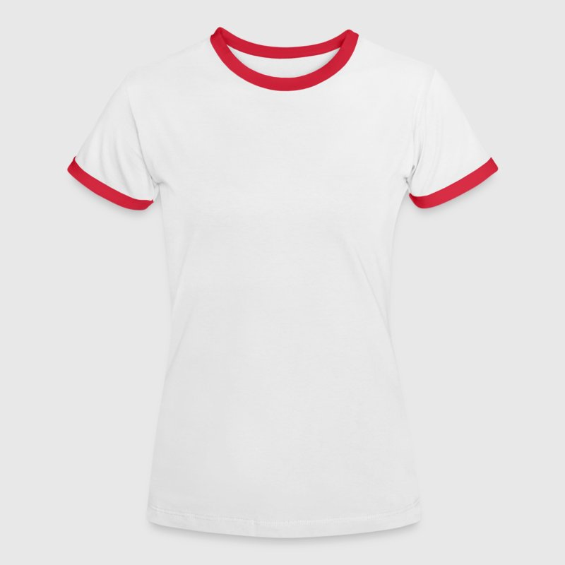 Blanc/rouge volley-ball T-shirts - T-shirt contraste Femme
