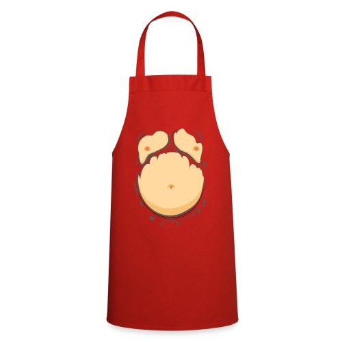 Comic Fat Belly, beer gut, beer belly, chest t-shirt - Cooking Apron
