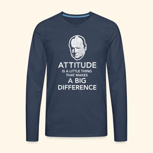 Churchill Zitat T-Shirt - Männer Premium Langarmshirt