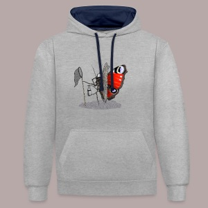 Butterfly Hunter - Contrast Colour Hoodie