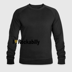 Black I love rockabilly retro Men's T-Shirts - Men's Sweatshirt by Stanley & Stella