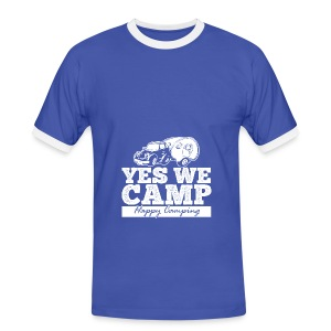 Yes we camp! - UNISEX Hoodie - Männer Kontrast-T-Shirt