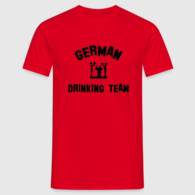 Rot german drinking team T-Shirts - Männer T-Shirt