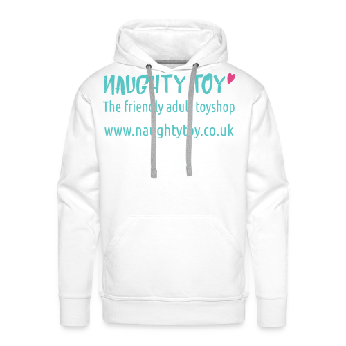 Naughty Toy Logo Plain White Men's Tee - Men's Premium Hoodie