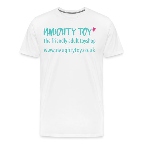 Naughty Toy Logo Plain White Men's Tee - Men's Premium T-Shirt