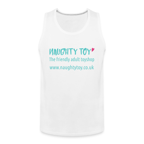 Naughty Toy Logo Plain White Men's Tee - Men's Premium Tank Top