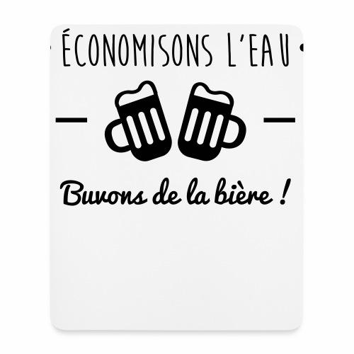 Economisons l'eau, buvons de la bière !  - Tapis de souris (format portrait)