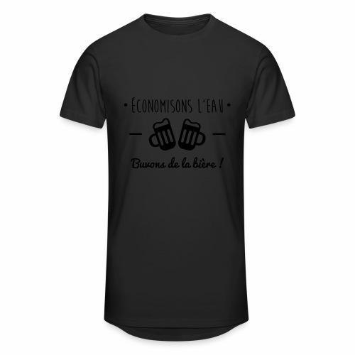 Economisons l'eau, buvons de la bière !  - T-shirt long Homme