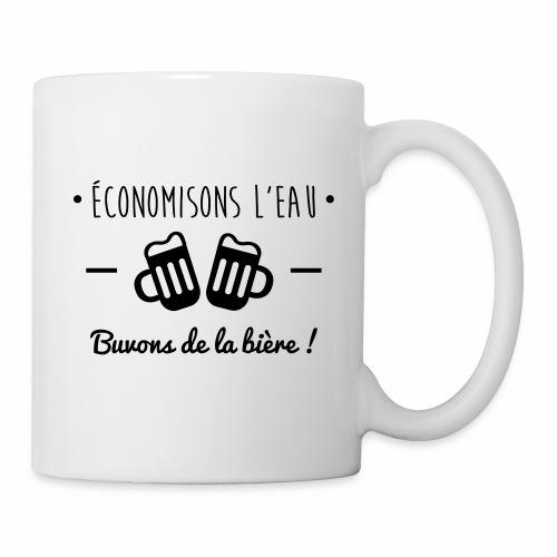 Economisons l'eau, buvons de la bière !  - Mug blanc