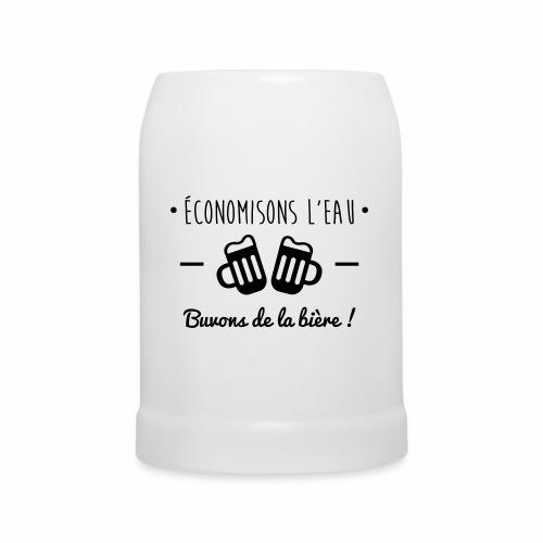 Economisons l'eau, buvons de la bière !  - Chope en céramique